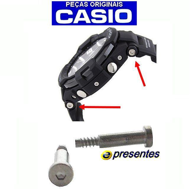 Par de Parafusos Fixação Pulseira Casio G-shock GA-1100RG-GA-1100KH-GA-1100-2B-GA-1100-9G-GA-1100-2A *  - E-Presentes