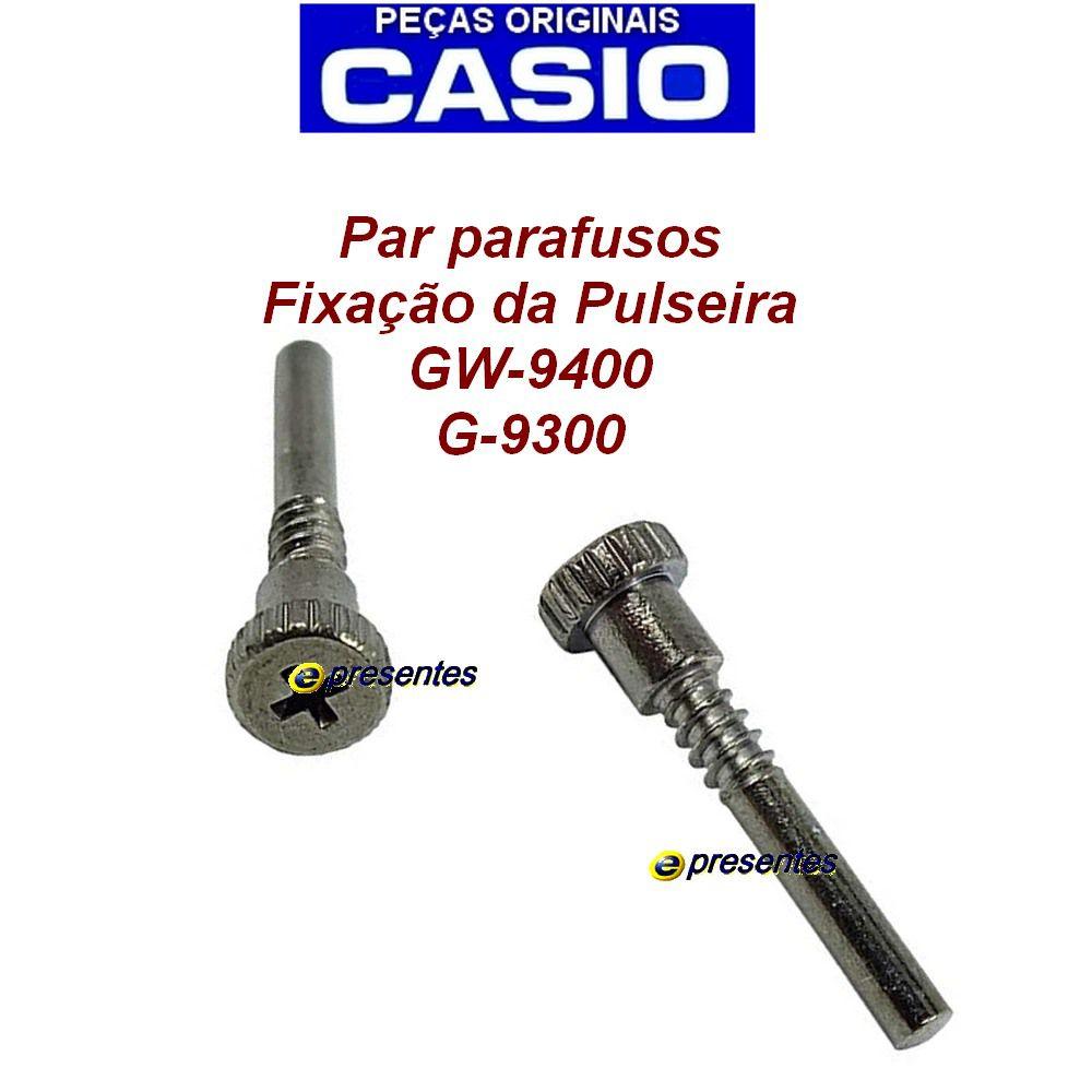 Par de Parafusos Pulseira Casio G-shock GW-9400 G-9300NV-2  - E-Presentes