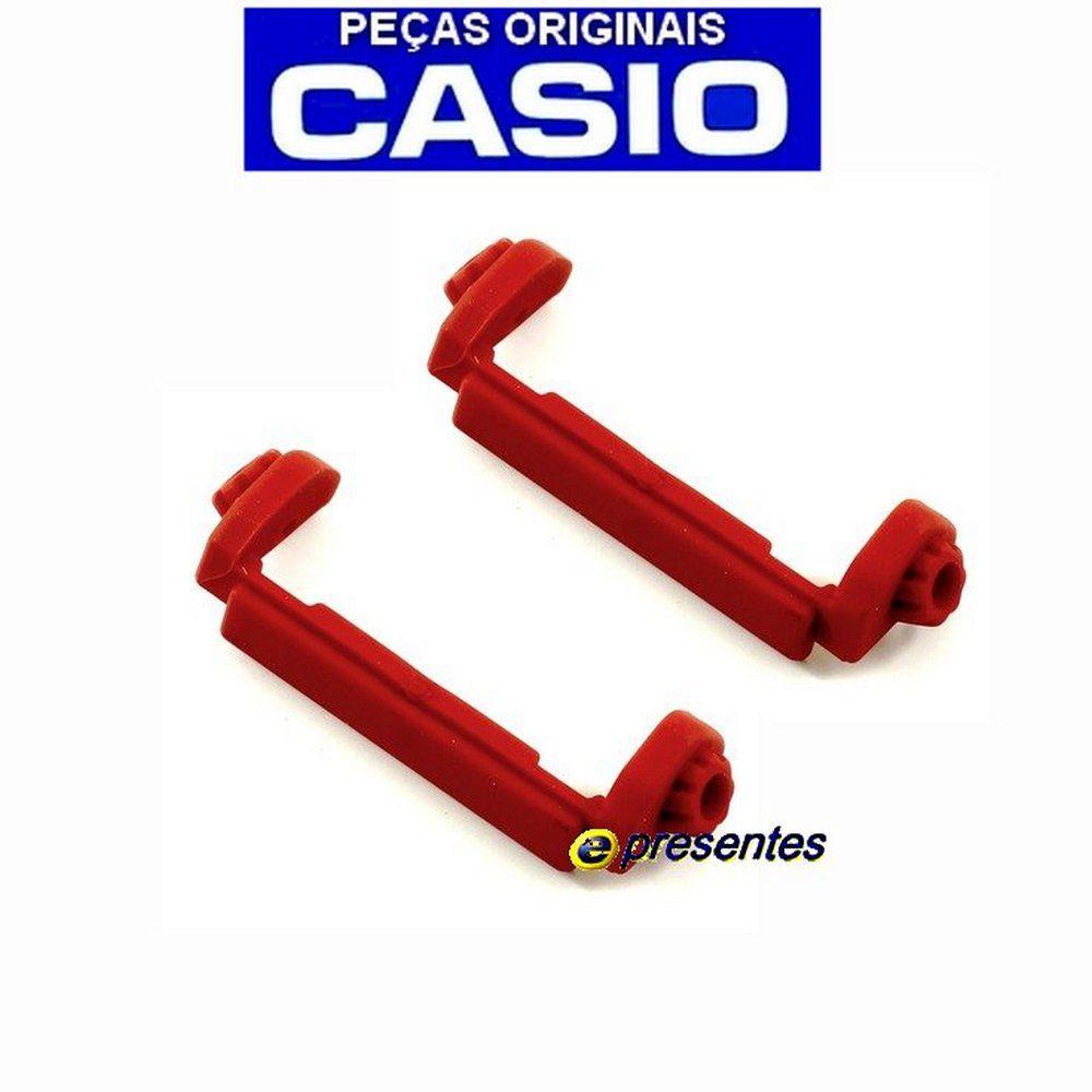 Par De Protetores Case Back vermelho Casio DW-9052-1C4  - E-Presentes