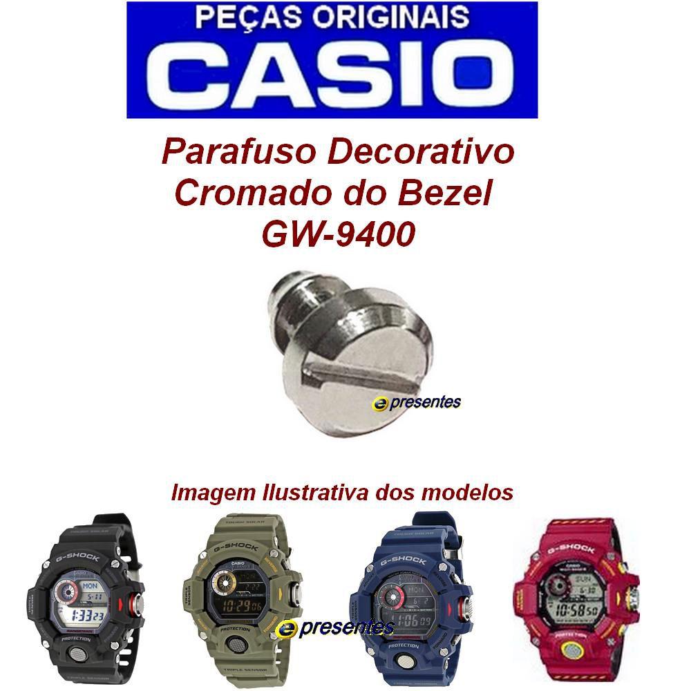 Parafuso Cromado Decorativo do Bezel GW-9400 - Peça 100% Autêntica  - E-Presentes