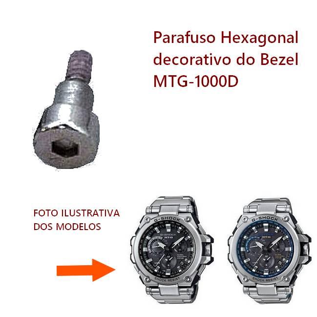 Parafuso Decorativo Bezel MTG-1000D Casio G-shock (unitario)  - E-Presentes