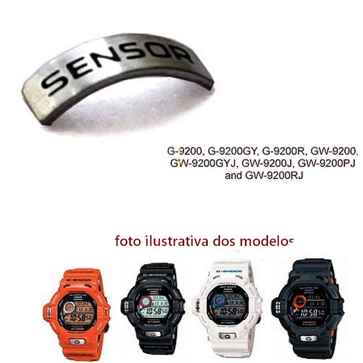 Peça Decorativa do Sensor do  Bezel Casio G-shock G-9200 Gw-9200 Riseman *  - E-Presentes