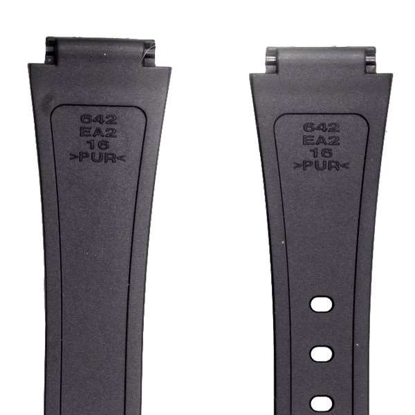 Pulseira 100% Original Casio Resina Preta Aw-48 16mm *  - E-Presentes