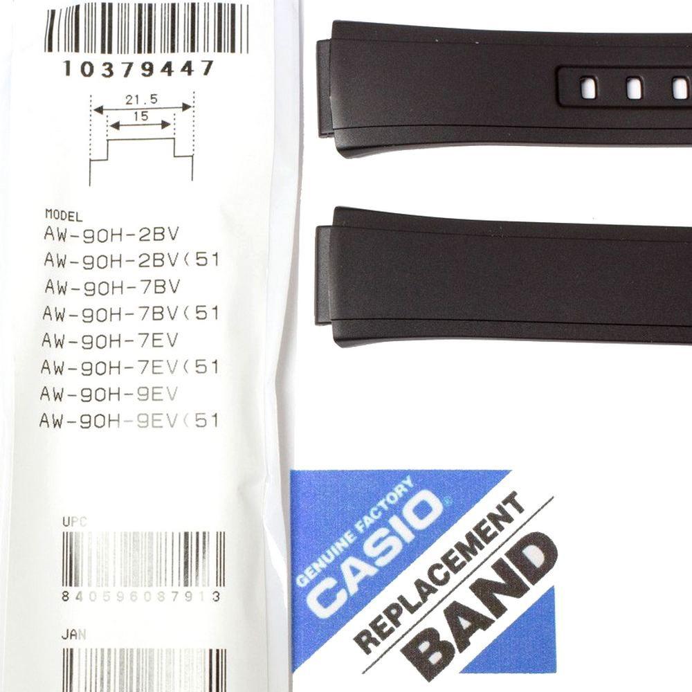 Pulseira Casio Resina Preta Aw-90H - Peças Originais  - E-Presentes