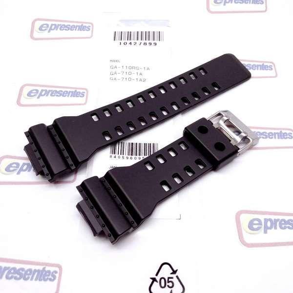 Pulseira Casio G-shock Ga-110RG,  GA-710-1A,  G-8900GB-1, GA-140AR, GAS-100AR,   GAW-100AR, GAW-100BMC, GA-140BMC Preto Fosco *  - E-Presentes