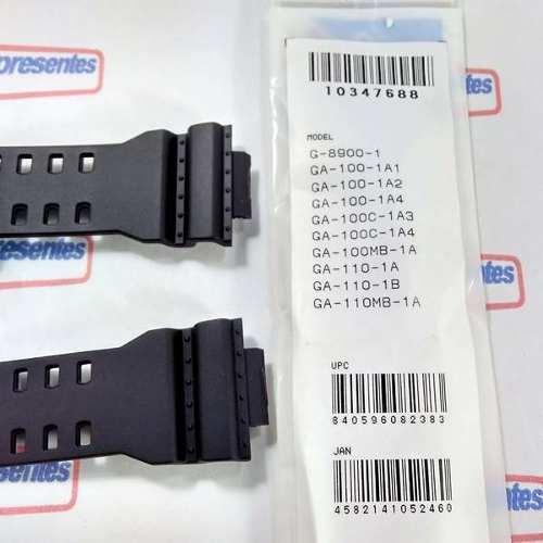 Pulseira + Anel Vedação + Bateria Casio G-Shock GA-100 GA-110 GA-120   - E-Presentes