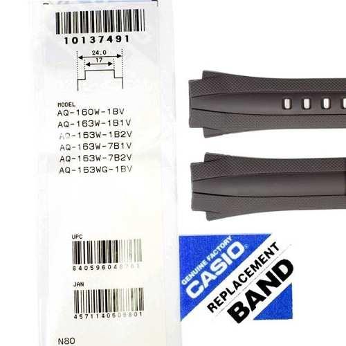 Pulseira AQ-160 + Par Pinos Retrateis Aço Inox Originais Casio  - E-Presentes