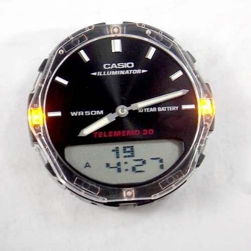 Pulseira AW-81 + Modulo 2747 Pretop Peças Originais Casio  - E-Presentes