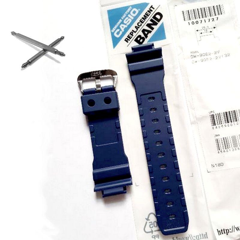 Pulseira Azul + Par de Pinos DW-9052-2 Casio G-Shock Resina Azul  - E-Presentes