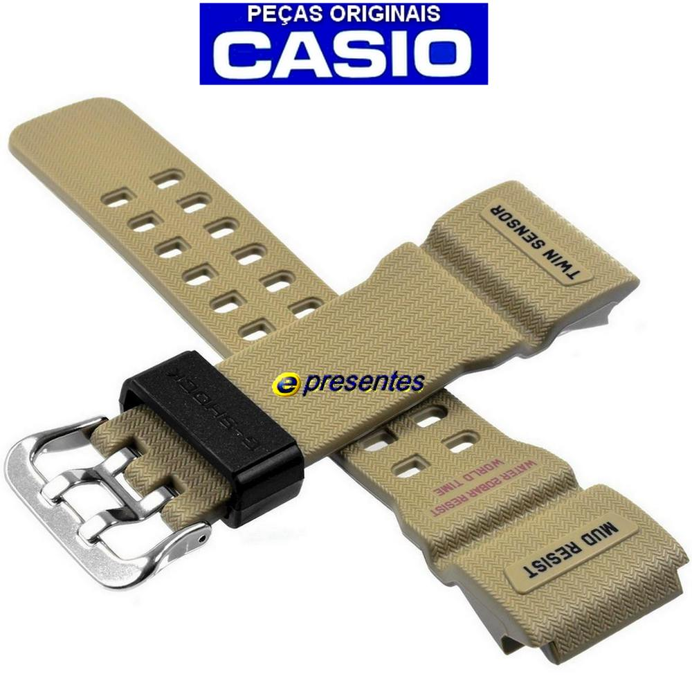 Pulseira Resina Bege GG-1000-1A5 Casio G-Shock Mudmaster *  - E-Presentes