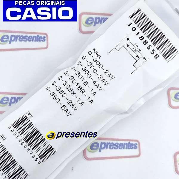 Pulseira + Berzel + Pinos Originais G-300-2v Casio G-Shock  - E-Presentes