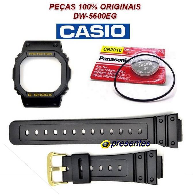 Pulseira + Bezel + Bateria + Vedação DW-5600eg Casio G-shock  - E-Presentes