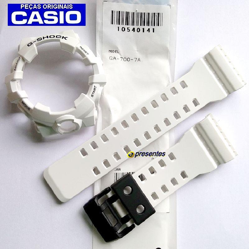 Pulseira + Bezel Branco Fosco GA-700-7A Casio G-shock  - E-Presentes