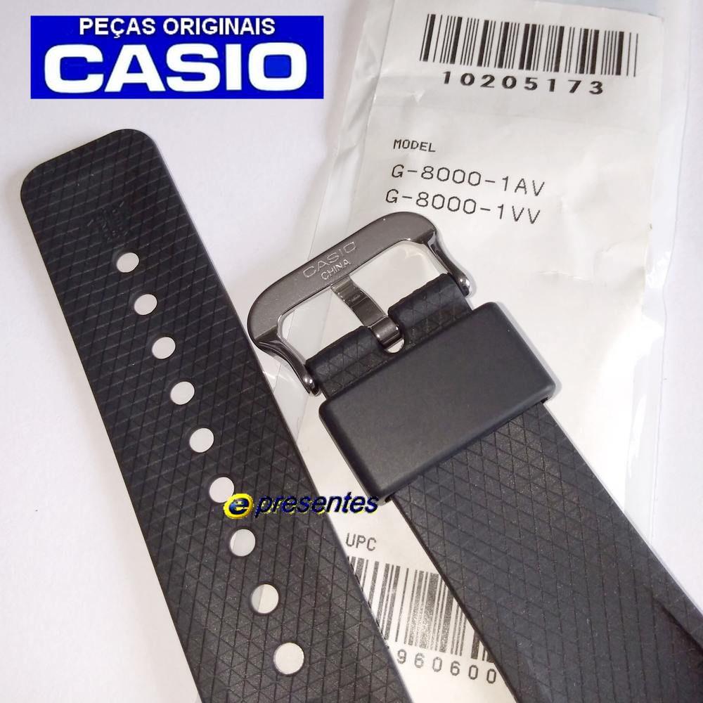 Pulseira + Bezel (Capa) Casio G-shock G-8000-1 Preto Fosco  - E-Presentes