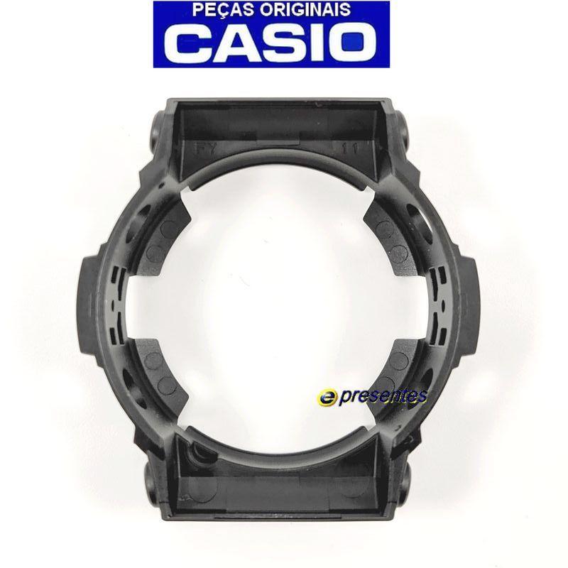 Pulseira + Bezel (Capa) Casio G-Shock Ga-201ba-1a Preto verniz  - E-Presentes