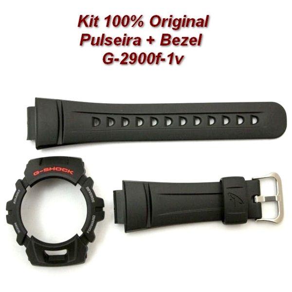 Pulseira + Bezel Capa Casio G-shock Preto G-2900F-1 - 100% Original  - E-Presentes