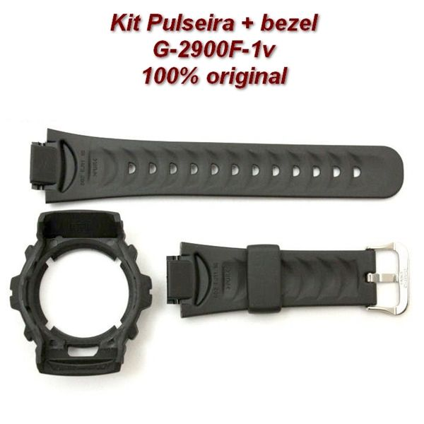 Pulseira + Bezel Capa G-2900F-1 Casio G-shock Preto   - E-Presentes
