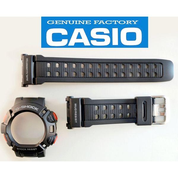 Pulseira + Bezel (capa) G-9000-1 Casio G-shock Mudman Preto  - E-Presentes
