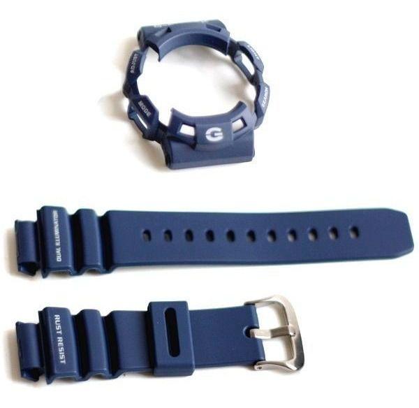 Pulseira + Bezel Capa G-9100-2 Casio G-shock Gulfman Azul  - E-Presentes