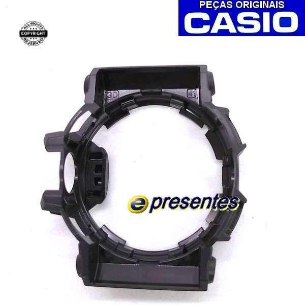 Pulseira + Bezel Capa GA-400-1a Casio G-shock Resina Preto Fosco  - E-Presentes