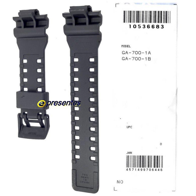 Pulseira + Bezel (Capa) GA-700-1A Casio G-shock Preto Fosco  - E-Presentes