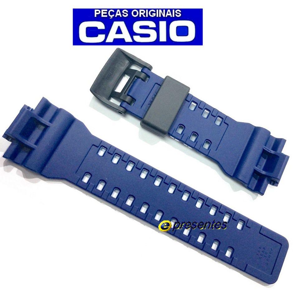 Pulseira + Bezel (capa) Ga-700-2a Casio G-shock Azul Escuro Fosco  - E-Presentes