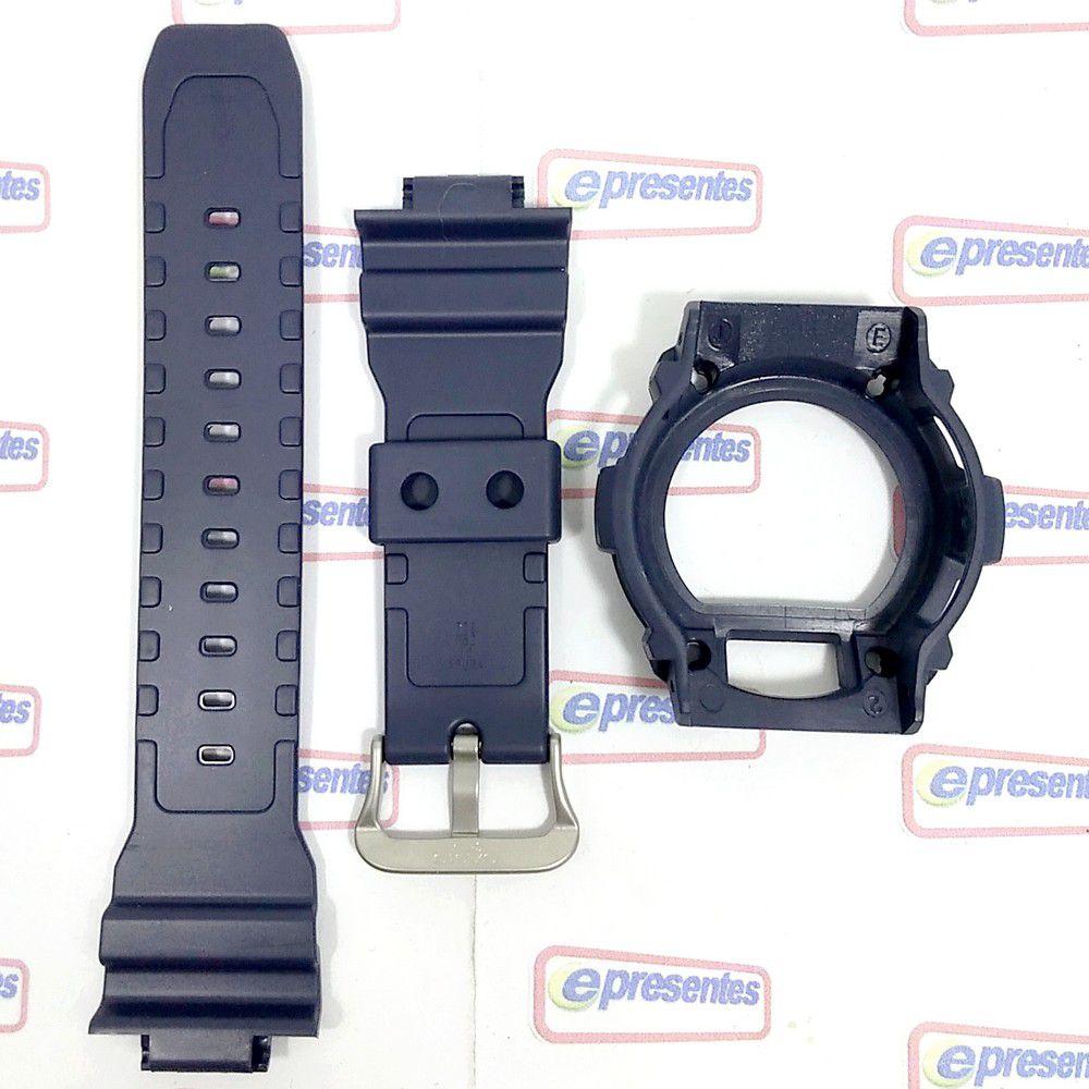 Pulseira + Bezel Casio G-shock Azul Naval Gw-7900nv-2 Gr-7900nv-2  - 100% Original  - E-Presentes