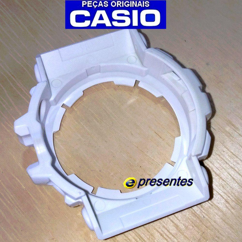 Pulseira + Bezel Casio G-shock Branco Brilhante GAC-100RG-7A  - E-Presentes