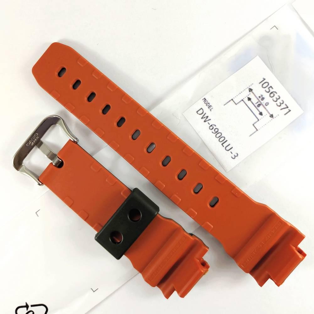 Pulseira + Bezel Casio G-Shock DW-6900lu-3 Resina Verde / Laranja  - E-Presentes
