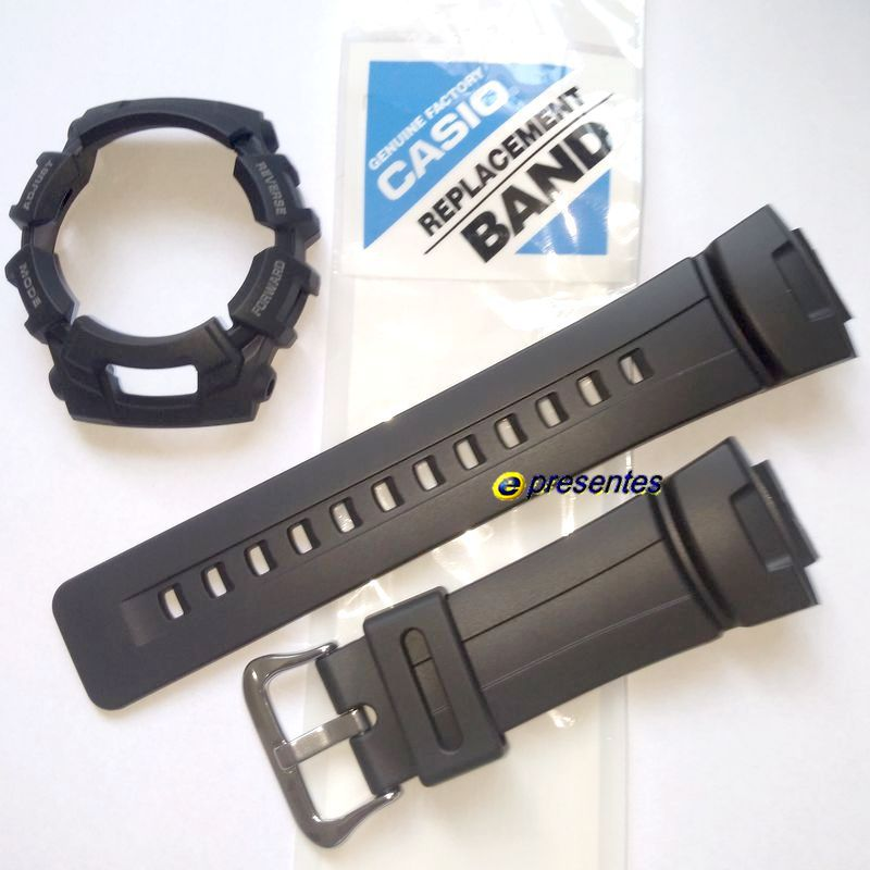 Pulseira + Bezel Casio G-shock G-2110, G-2300, G-2310, GW-2320 G-2400  GL-170 Preto Fosco    - E-Presentes