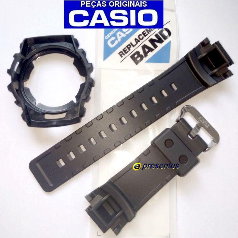 Pulseira + Bezel Casio G-shock G-2110, G-2300, G-2310, GW-2320 Preto Fosco   - E-Presentes