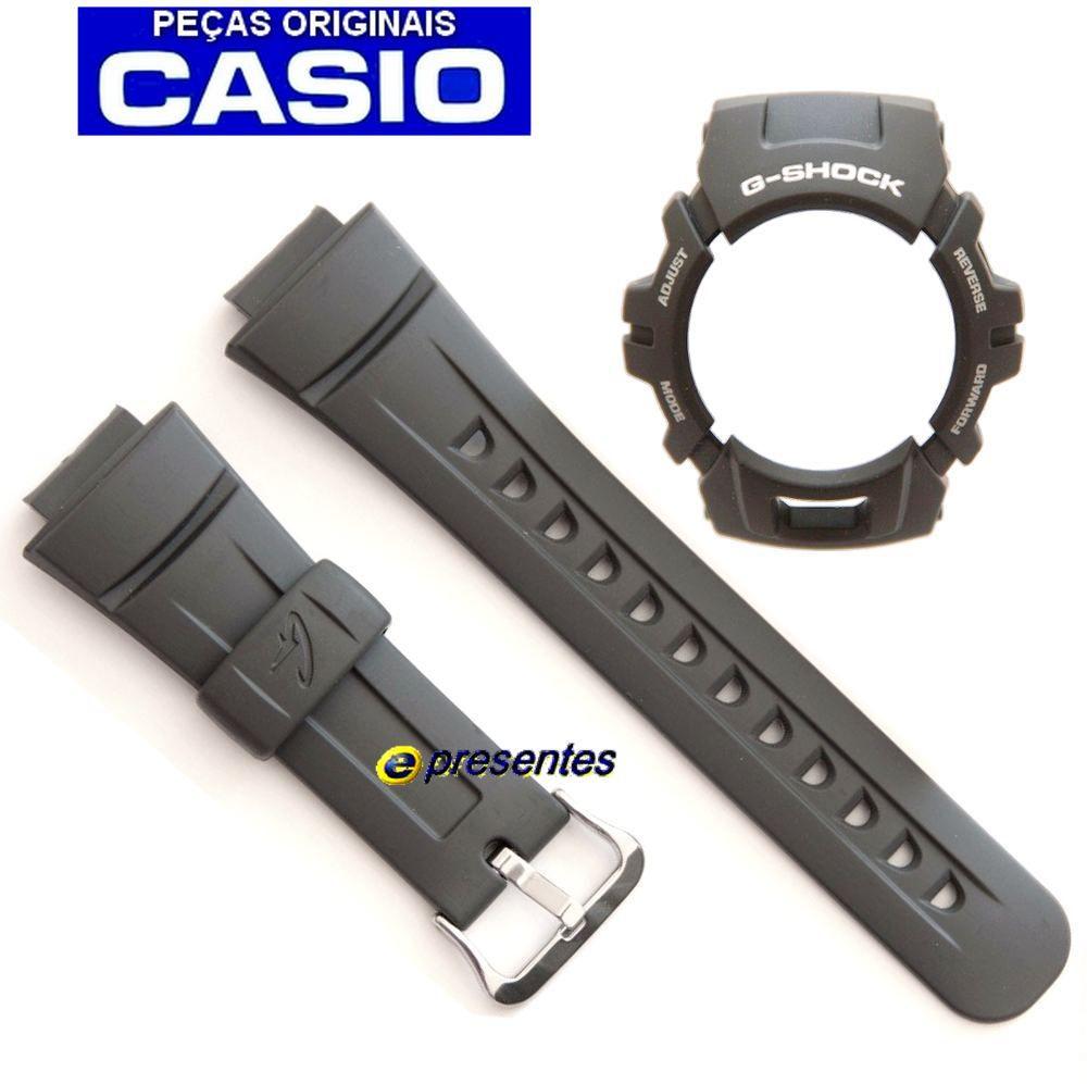 Pulseira + Bezel  Casio G-shock G-2900F-8 CINZA ESCURO - 100% Original  - E-Presentes