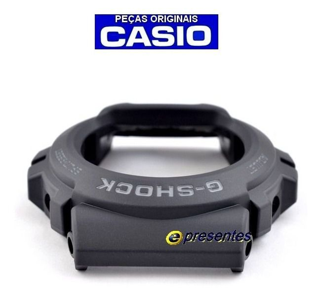 Pulseira + Bezel Casio G-shock G-6900-1 GW-6900-1 Preto fosco  - E-Presentes