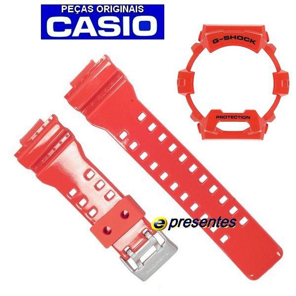 Pulseira + Bezel Casio G-Shock G-8900A-4 Resina Laranja Verniz  - E-Presentes