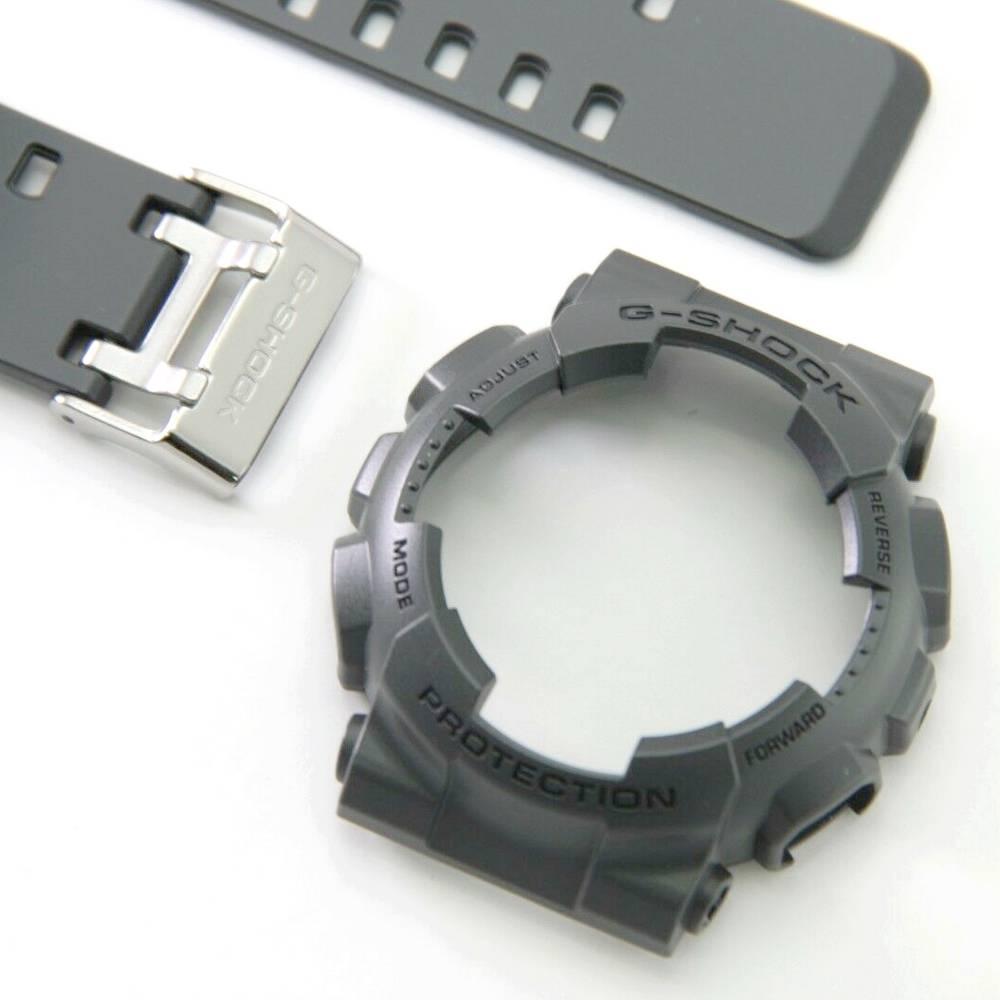 Pulseira + Bezel Casio G-Shock GA-100CF-8a Cinza Escuro Grafite -   - E-Presentes