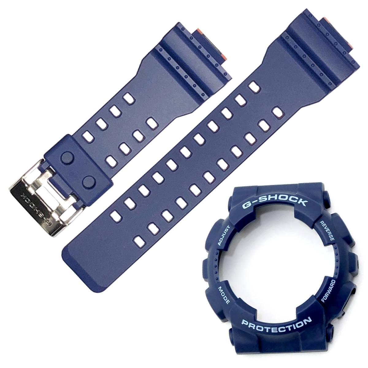 Pulseira + Bezel Casio G-Shock GA-100L-2a Azul /laranja  - E-Presentes