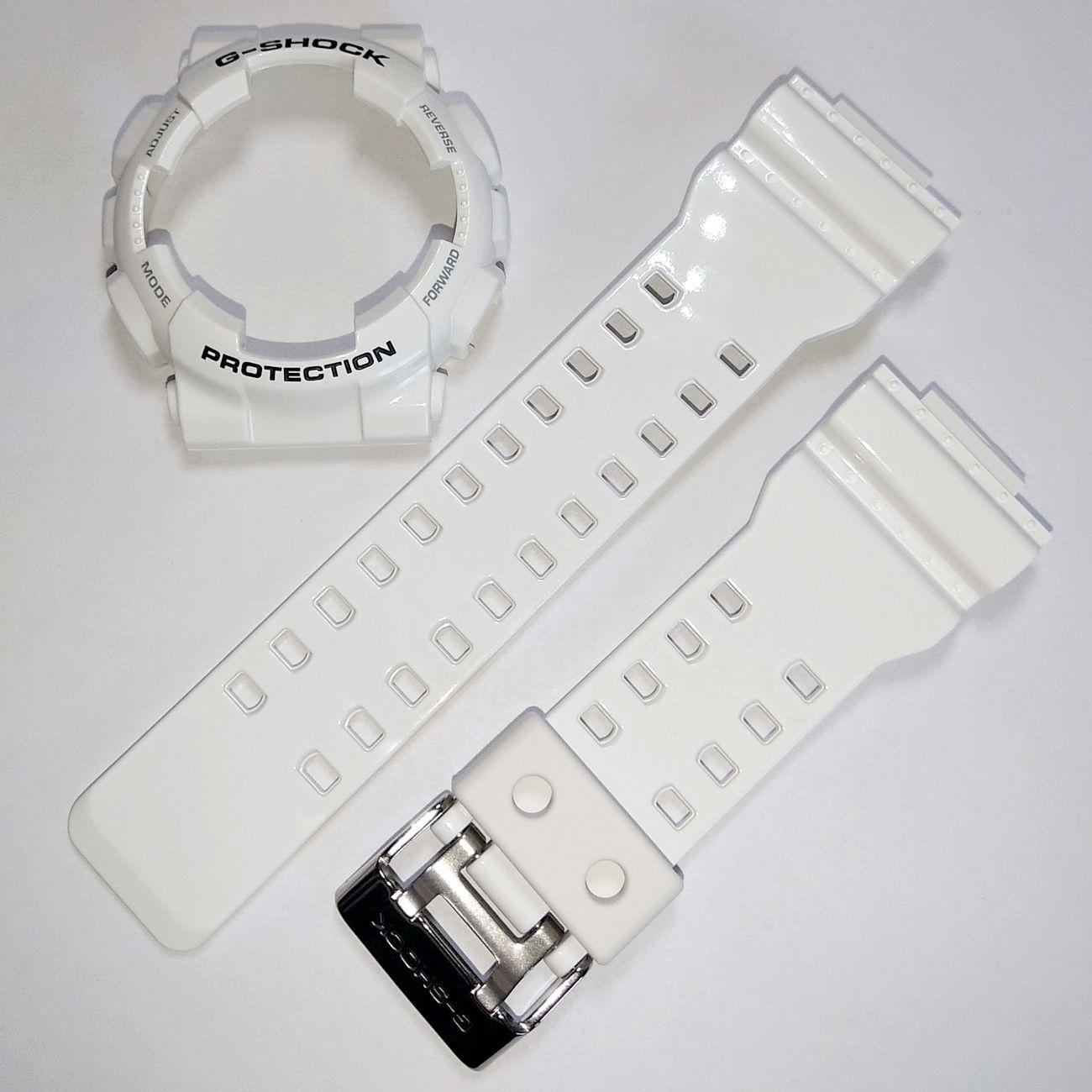 Pulseira + Bezel Casio G-shock GA-110gw-7a Branco Brilhante  - E-Presentes