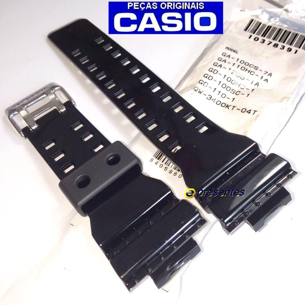 Pulseira + Bezel Casio G-shock GD-100HC-1 Preto Brilhante - 100% Original  - E-Presentes