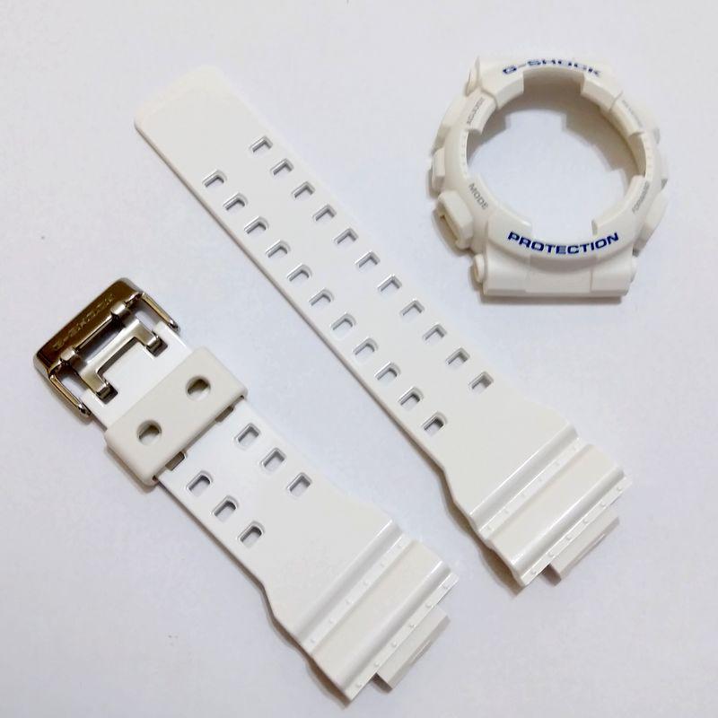 Pulseira + Bezel Casio G-Shock GD-100sc-7 Branco Brilhante Verniz  - E-Presentes