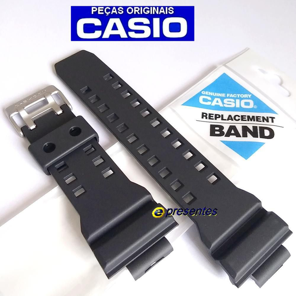 Pulseira + Bezel Casio G-Shock GD-350-1b Resina Preto Fosco  - E-Presentes