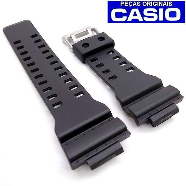 Pulseira + Bezel Casio G-shock GDF-100 1b Resina Preto Fosco  - E-Presentes