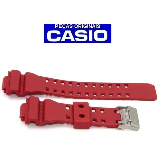 Pulseira + Bezel  Casio G-shock GDF-100-4 VERMELHO Peças Originais  - E-Presentes