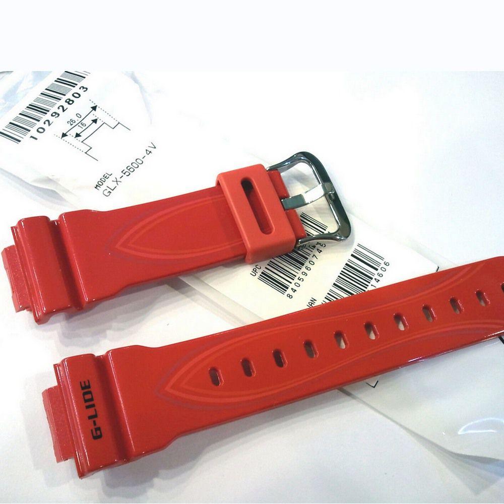 Pulseira + Bezel Casio G-Shock GLX-5600-4 Resina Vermelho Verniz  - E-Presentes