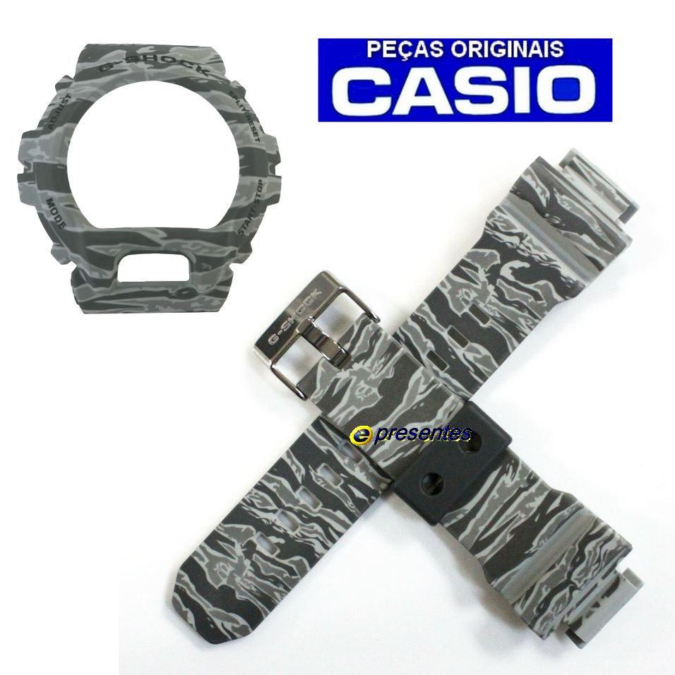 Pulseira + Bezel Casio GD-X6900cm-8 G-shock Camuflado Cinza  - E-Presentes