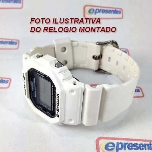 Pulseira + Bezel Dw-5600 Branco Fosco Casio G-Shock  - E-Presentes