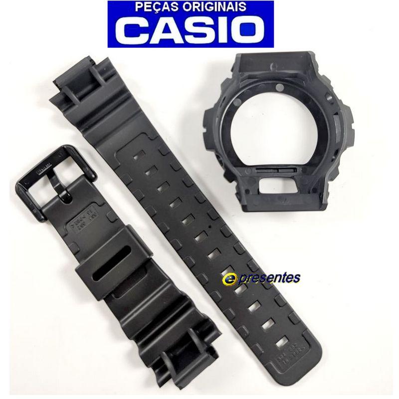 Pulseira + Bezel Dw-6900-1v Casio G-Shock  - E-Presentes