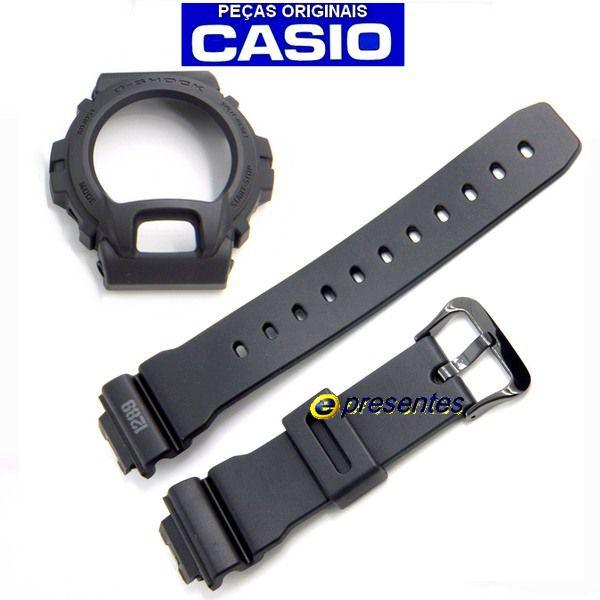 Pulseira + Bezel DW-6900MS-1Casio G-shock Preto fosco Estilo Militar  - E-Presentes