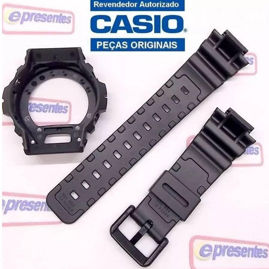 Pulseira + Bezel DW-6900G Casio G-Shock  Serie Ouro - Peças 100% Originais  - E-Presentes