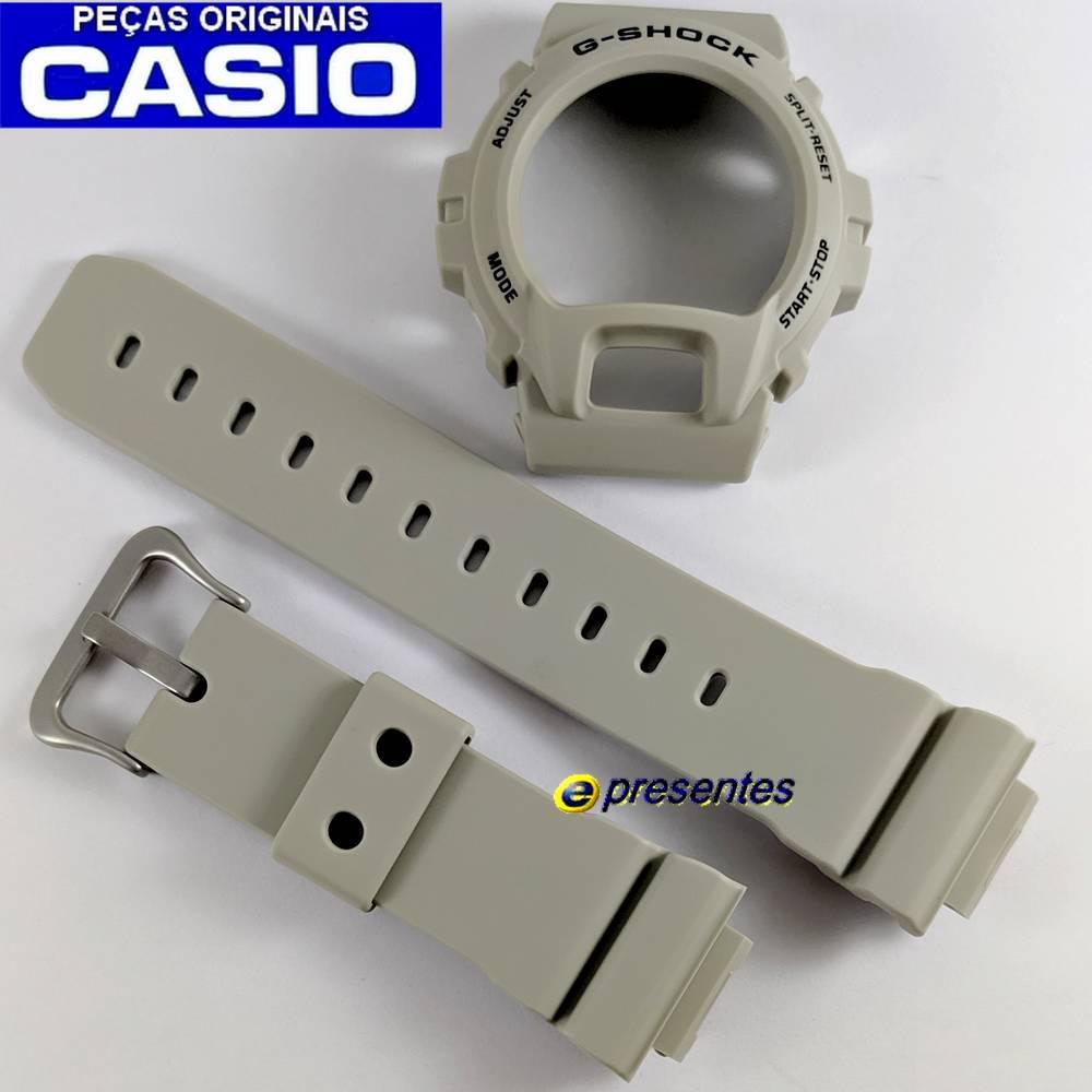 Pulseira + Bezel DW-6900SD-8 BEGE FOSCO Casio G-Shock  - E-Presentes