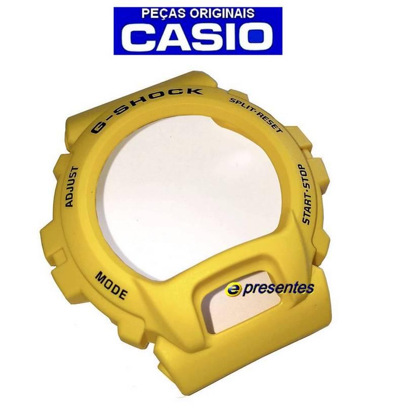 Pulseira + Bezel G-6900A-9 GW-6900A-9 Casio G-shock Amarelo fosco  - E-Presentes